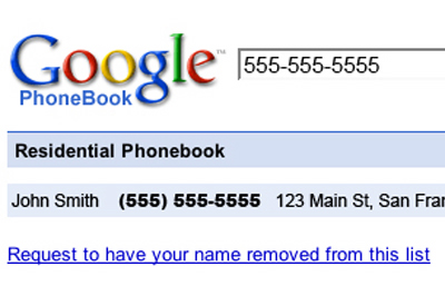 Google Adds Phone Number Look-up Feature