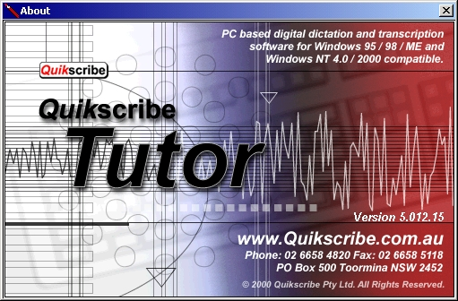 Using the Quikscribe Tutor for Presentation Development